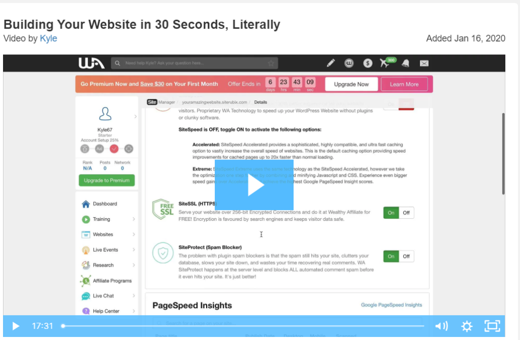 build a website in 30 seconds