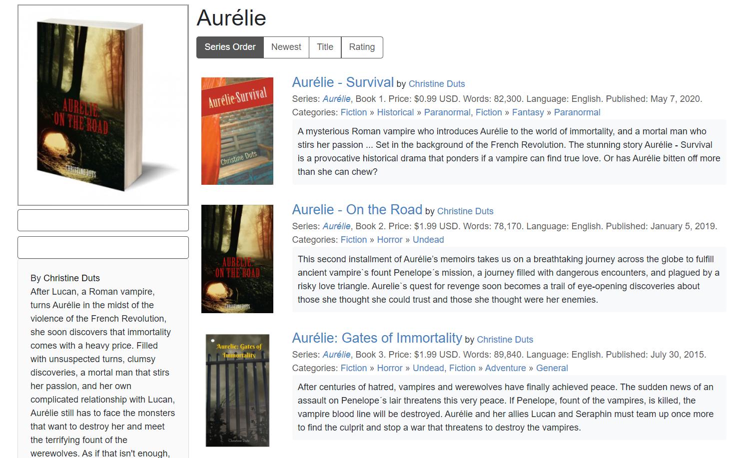 Aurelie series