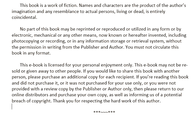 author disclaimer
