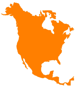 map or north America