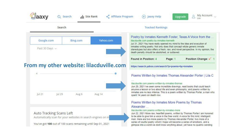 page1 on search engine