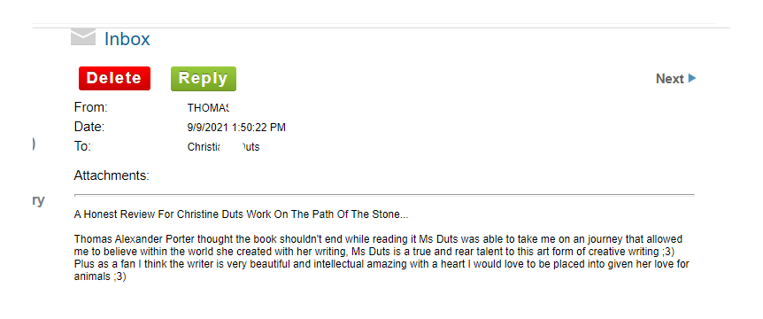 the path of the stone thomas porter's review